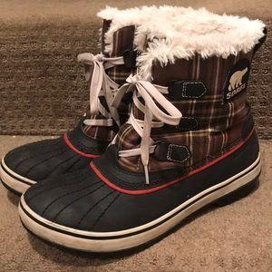 Sorel Tivoli Plaid Boots